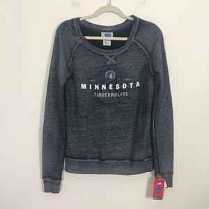 NWT NBA Minnesota Timberwolves Blue Sweatshirt